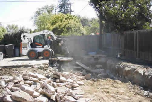 Durring a Pool Removal in Menlo Park